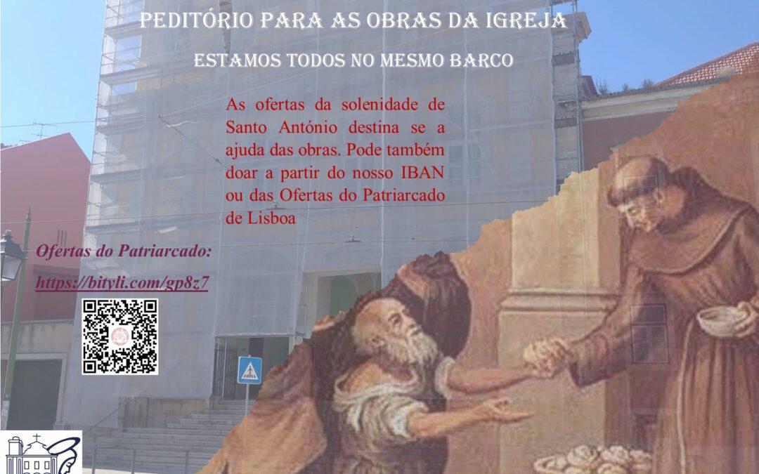 PEDITÓRIO PARA AS OBRAS DA IGREJA